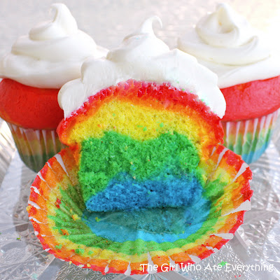 Rainbow Pride Cupcakes from The Girl Who Ate Everything